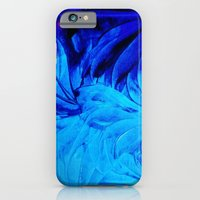 iPhone & iPod Case featuring PETAL PINWHEELS - Deep Indigo Blue Royal Blue Turquoise Floral Pattern Swirls Ocean Water Flowers by EbiEmporium