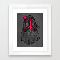War And Peace (GREY) Framed Art Print