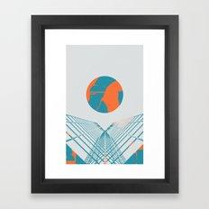 Cybersunset Framed Art Print