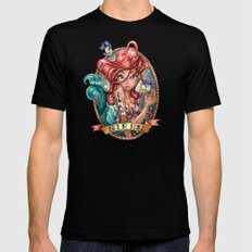 SIREN SMALL Black Mens Fitted Tee