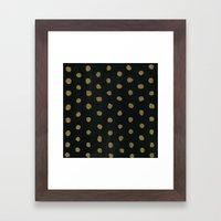 GOLD DOTS Framed Art Print