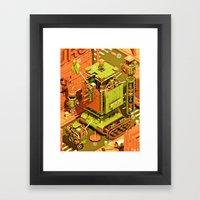 Super Tanklord Anatomy Framed Art Print