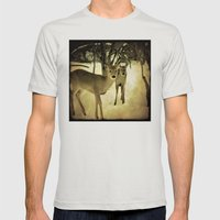 A Walk in the Woods Mens Fitted Tee Silver SMALL