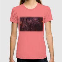 The Castle Womens Fitted Tee Pomegranate SMALL