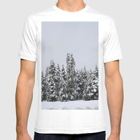 White Forest Mens Fitted Tee White SMALL
