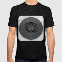 Screen Cover Mens Fitted Tee Tri-Black SMALL