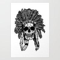 Chief Skull Art Print