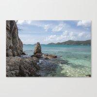 Caribbean Beach Photogra… Canvas Print