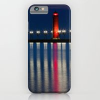Grand Haven Pier Lighthouse and Reflections iPhone 6 Slim Case