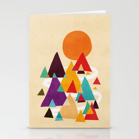 Let's visit the mountains Stationery Card
