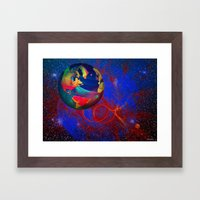 Fractal World Framed Art Print