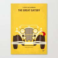Canvas Print featuring No206 My The Great Gatsb… by Chungkong