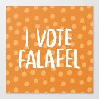 I Vote Falafel Canvas Print