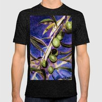 CRAYON LOVE - Olivebranc… Mens Fitted Tee Tri-Black SMALL