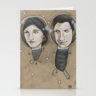 Stationery Cards featuring Outer Face by Busymockingbird