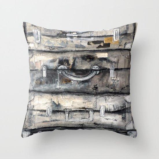 vieille valise Throw Pillow