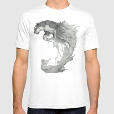 Jump White Mens Fitted Tee SMALL