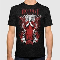 Occult Mens Fitted Tee Tri-Black SMALL
