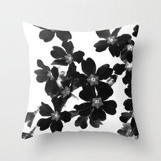 Primrose In BW Throw Pillow