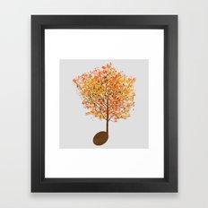 Note Tree Framed Art Print
