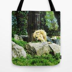 THE LION SLEEPS TODAY Tote Bag