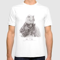 John T. Rex Mens Fitted Tee White SMALL