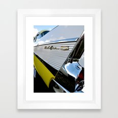 Yellow Classic American Muscle Car Belair  Framed Art Print