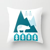 Heart the Polar Bear Throw Pillow