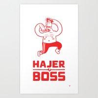 Hajer Boss Art Print