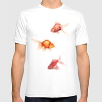 Peces Mens Fitted Tee White SMALL