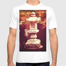 Japanese stone lantern Mens Fitted Tee White SMALL