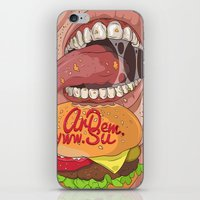 Fastfood illustration  iPhone & iPod Skin