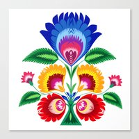 Folk Flower Canvas Print