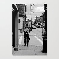 Life In a Guitar Town Canvas Print