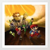 Super Mario Bros. The Mo… Art Print
