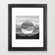 Geo Nature Mountains Framed Art Print