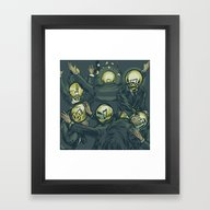 Framed Art Print featuring Communications Breakdown by Thomcat23