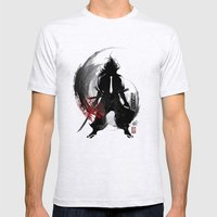 Corporate Samurai Mens Fitted Tee Ash Grey SMALL