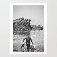 Real Woman Diver, Jeju Island Art Print