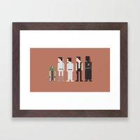 Star Wars 8-Bit Framed Art Print
