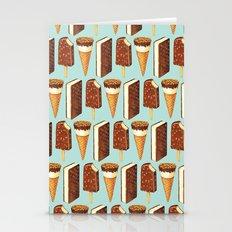 Ice Cream Novelties Pattern Stationery Cards