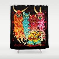 PAKKU-MAN Shower Curtain