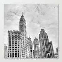 Chicago Iconic Wrigley Building Canvas Print