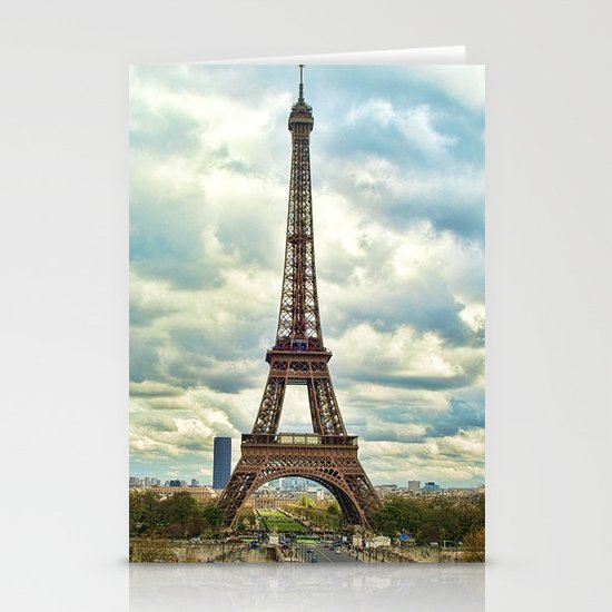 Dramatic Eiffel  Stationery Card