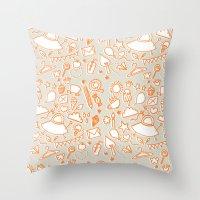 extra doodles Throw Pillow