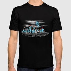 Team Zissou Crossing the Delaware SMALL Black Mens Fitted Tee