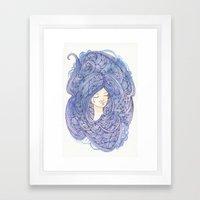 Drowning Girl Framed Art Print