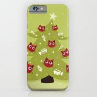 Cat Christmas Tree iPhone 6 Slim Case
