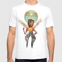 THE ANGEL GABRIEL Mens Fitted Tee White SMALL
