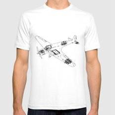 Airplane diagram SMALL Mens Fitted Tee White